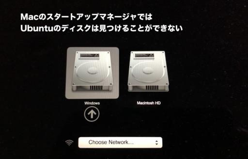 Mac備え付けスタートアップマネージャの動作