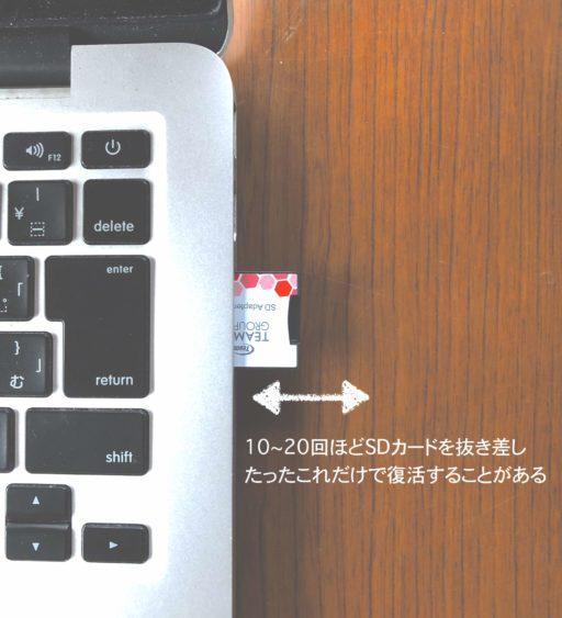 SDカードの抜き差しによる端子の研磨