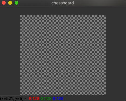 アルファチェンネルの存在を示唆するチェスボード背景